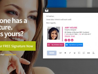 Create an email signature – for free