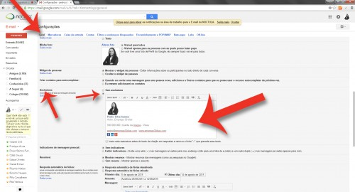 """Como criar uma assinatura de email - Capítulo 11 do livro """"Como conseguir emprego em 30 dias"""""""