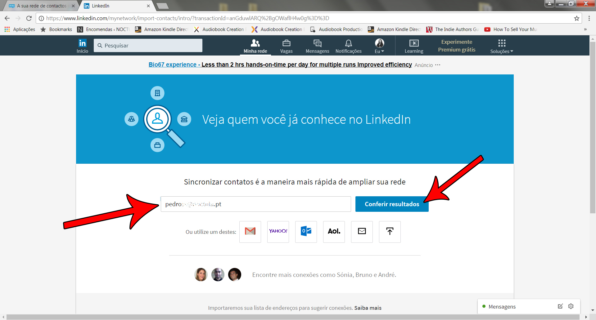 Network of contacts on LinkedIn - img01b
