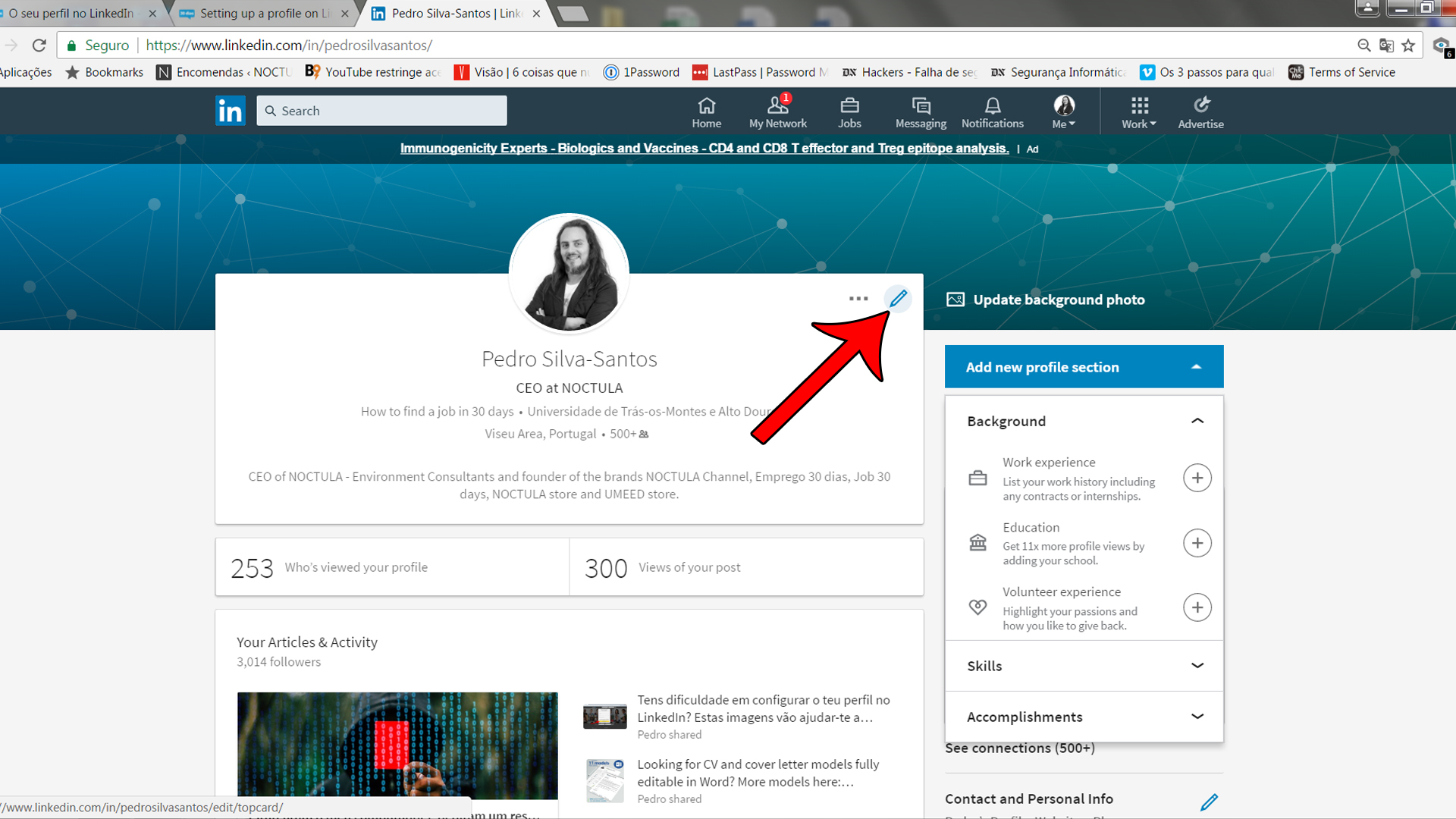 Setting up a profile on LinkedIn_02