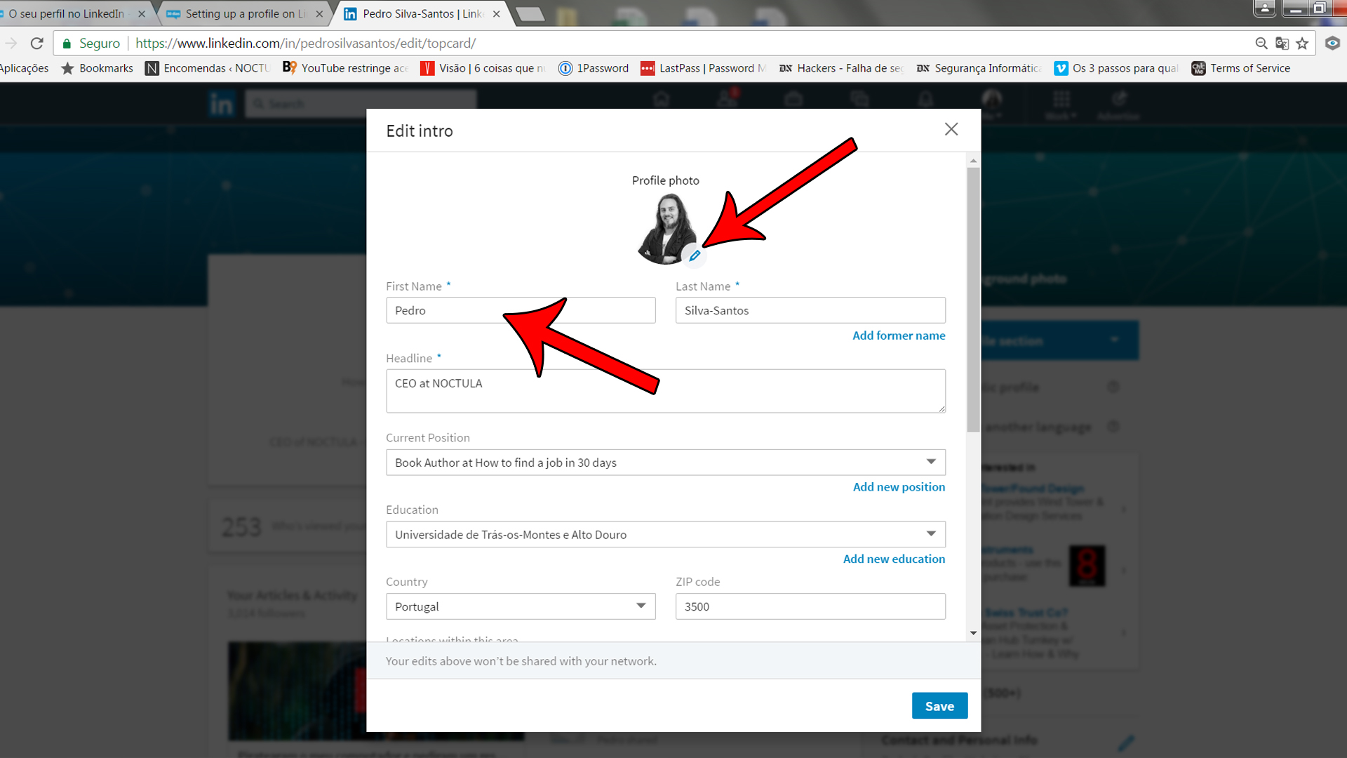 Setting up a profile on LinkedIn_02_000