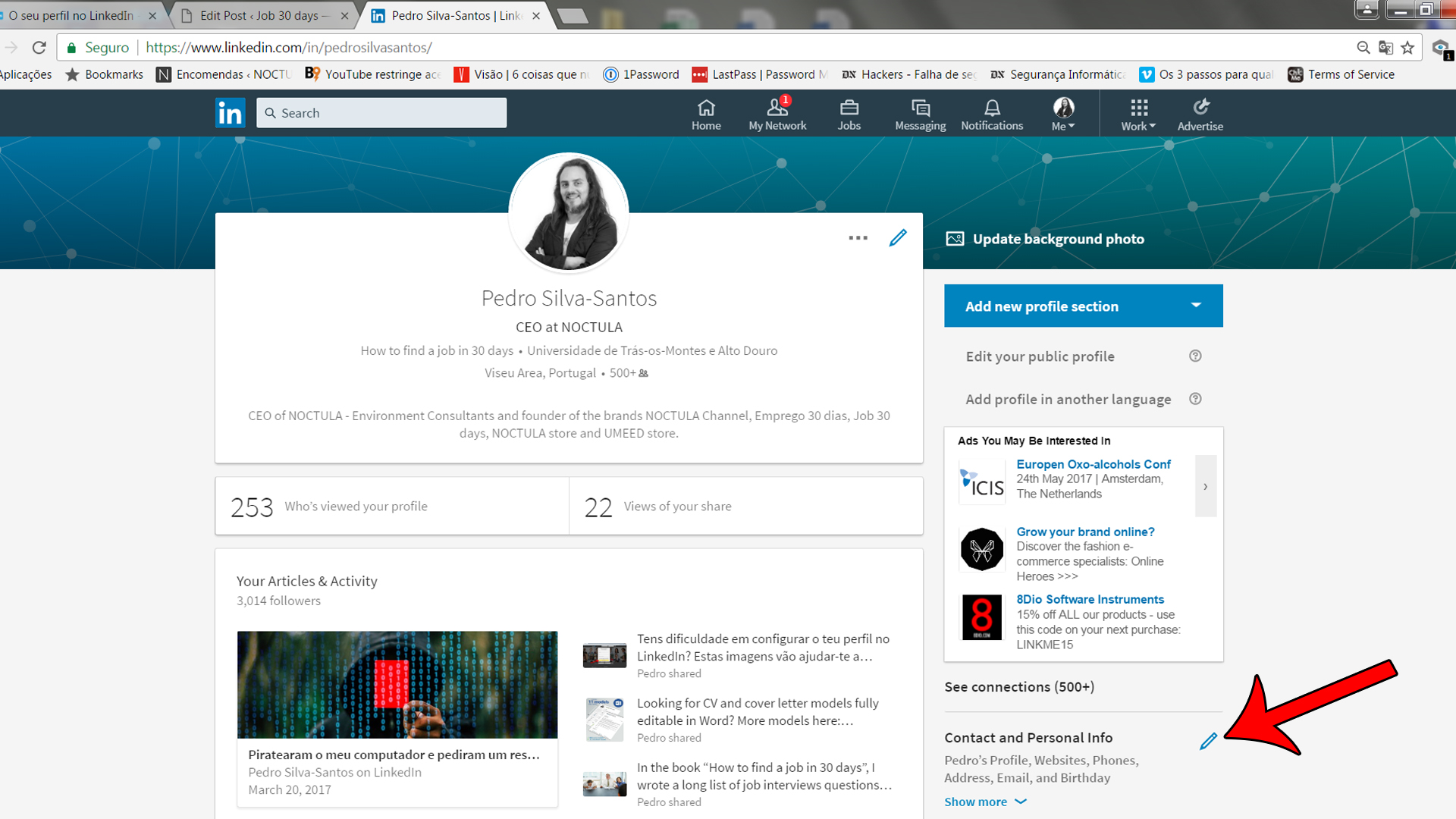 Setting up a profile on LinkedIn_02a1