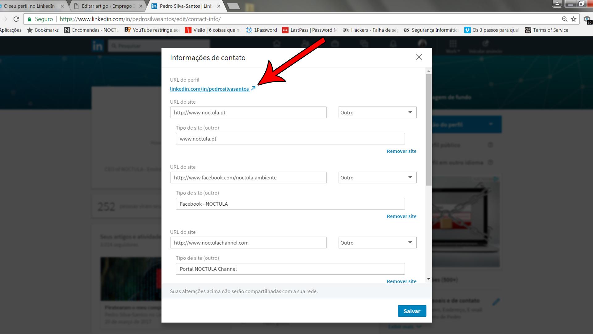 Setting up a profile on LinkedIn_02b