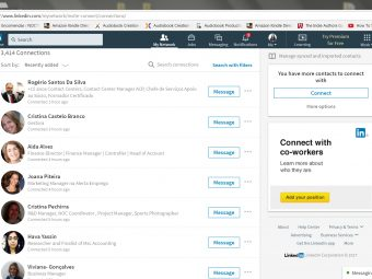 Creating a network of contacts on LinkedIn