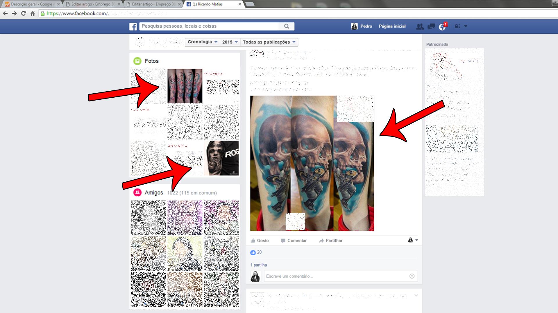 o seu perfil no Facebook