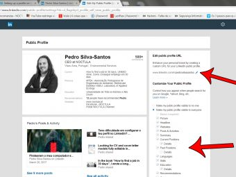 Assume your profile on LinkedIn as your online CV